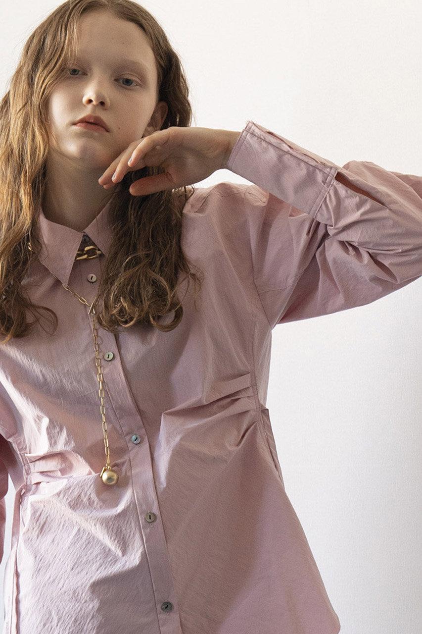 MAISON SPECIAL メゾンスペシャル 【予約販売】サーキュラースリーブシャツ PNK(ピンク)
