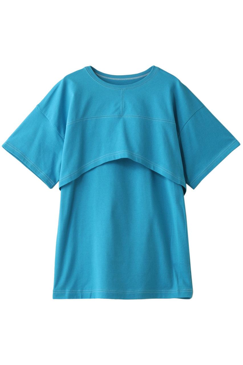 MAISON SPECIAL メゾンスペシャル 3WAYレイヤードトップ BLU(ブルー)