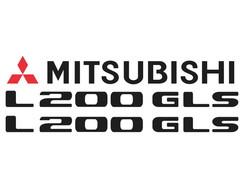 Faixa Adesivo Mitsubishi L200 Triton Kit Completo no Elo7