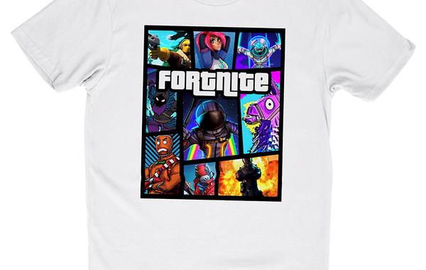 camiseta fortnite poster gta personalizada camisa games