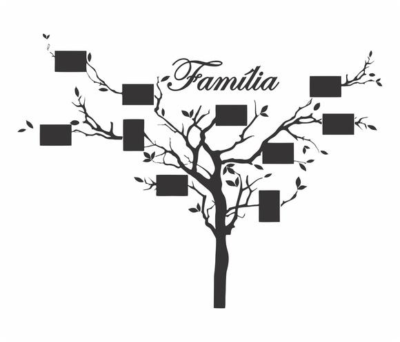 Adesivo De Parede Decorativo Árvore Genealógica Família no