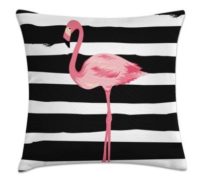 flamingos na decoração almofada