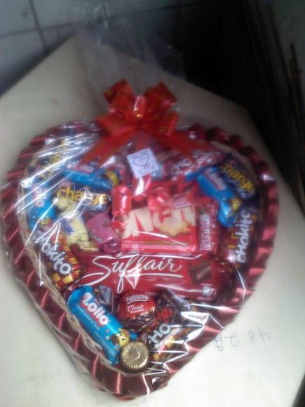 Cesta Chocolate Dia dos Namorados  Elo7