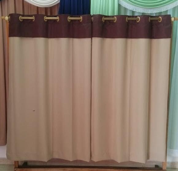 cortina em oxford com bando no Elo7  Elidi Cortinas B31527