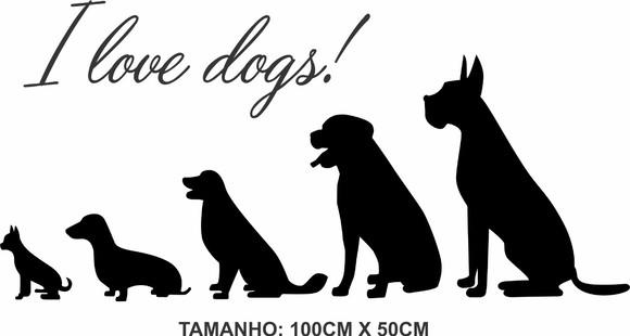 Adesivo De Parede I Love Dogs Decoração Pet Shop no Elo7