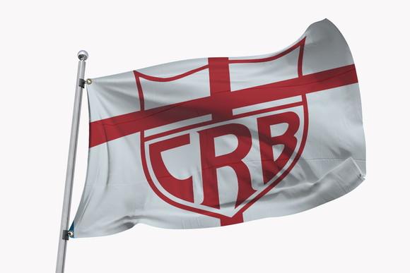 Bandeira do CRB F.C. 1,50m(lar)X1m(alt) com Ilhóes