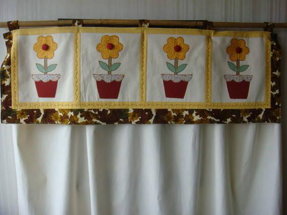 Cortina em Patchwork Flores no Elo7  Fafa Arte 1CA555