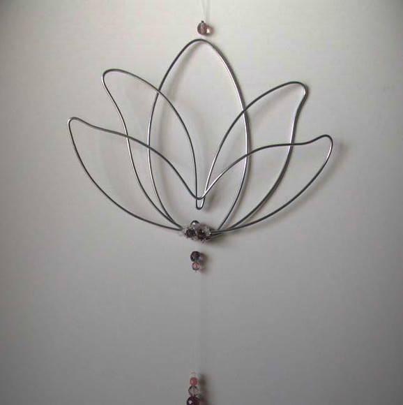 Mbile Flor de Ltus no Elo7  Cludia Lente  Arte em