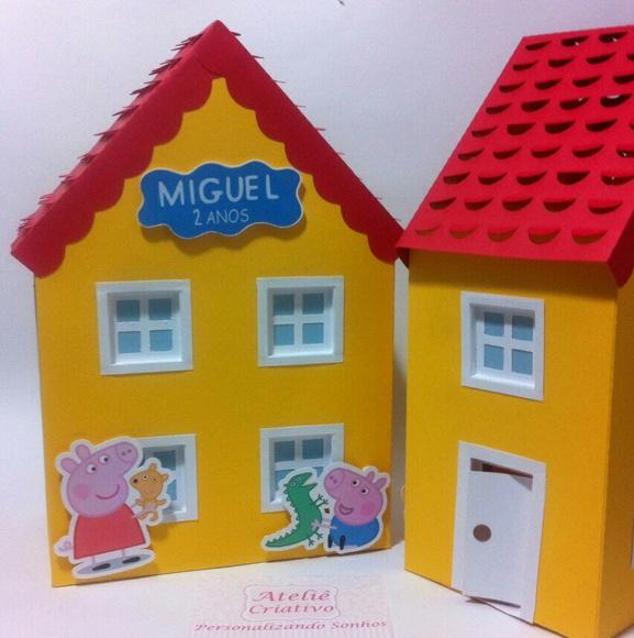 Casa Peppa Pig GG Centro de Mesa no Elo7  Atelie Criativo  Personalizando Sonhos 50A84D
