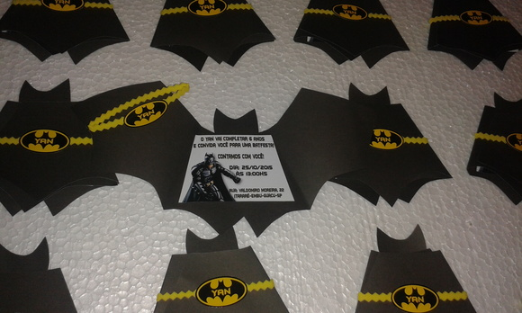Convite Batman No Elo7 Arte E V A 5EC99D