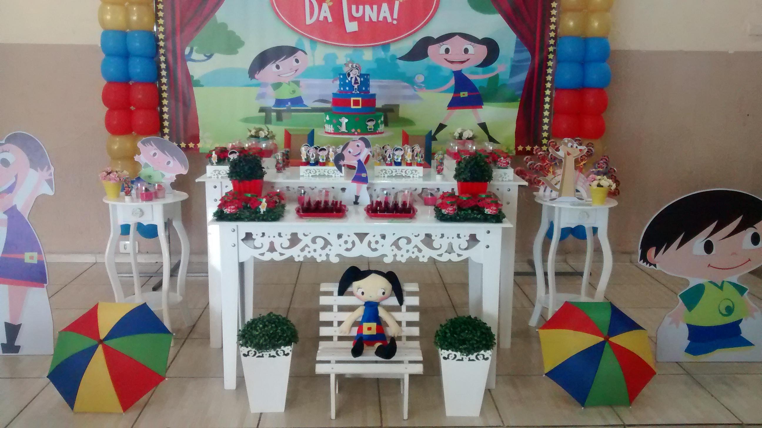 Decorao de Festa Infantil Show da Luna  Adriana
