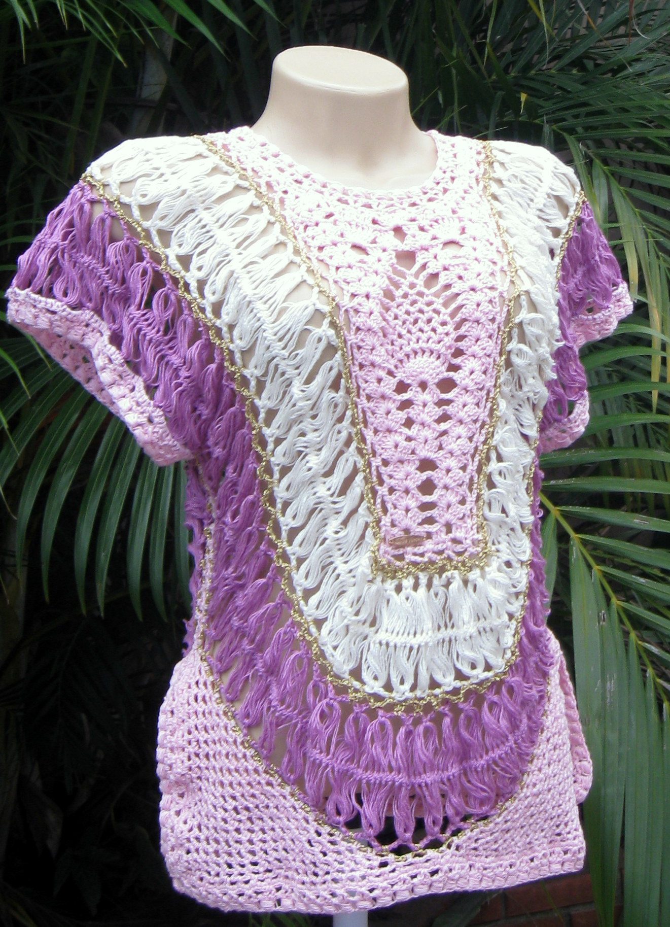 Blusa Em Croche De Grampo