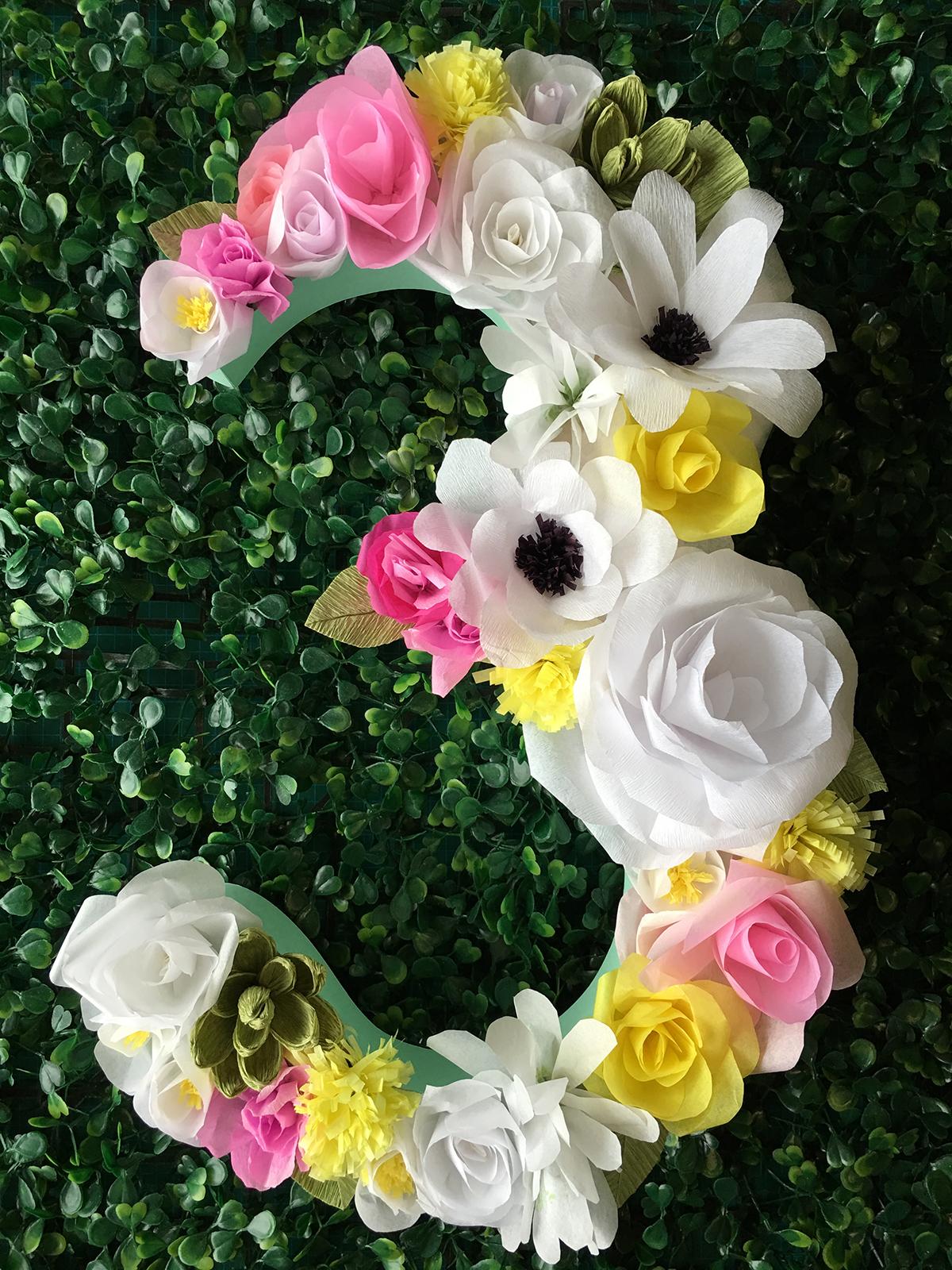 Nmero de flores de papel  Mr Pickles Garden  Elo7