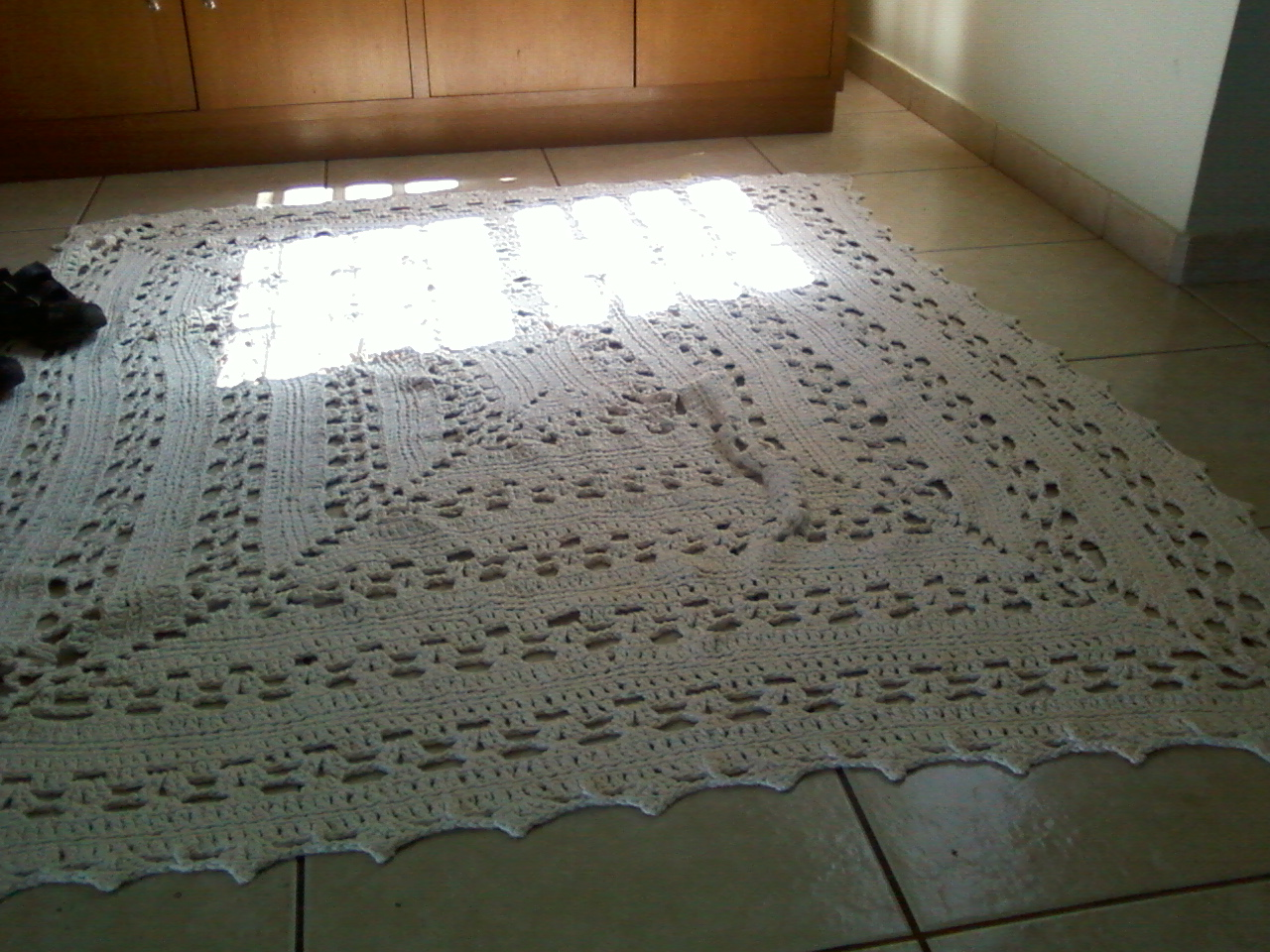 Tapete quadrado para sala 150 CM  ATELLI DA LILIKA  Elo7