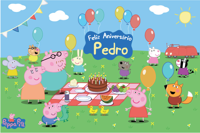 Painel Impresso Festa Peppa Pig Diversos  Bolle Blu Party  Itlia  Elo7