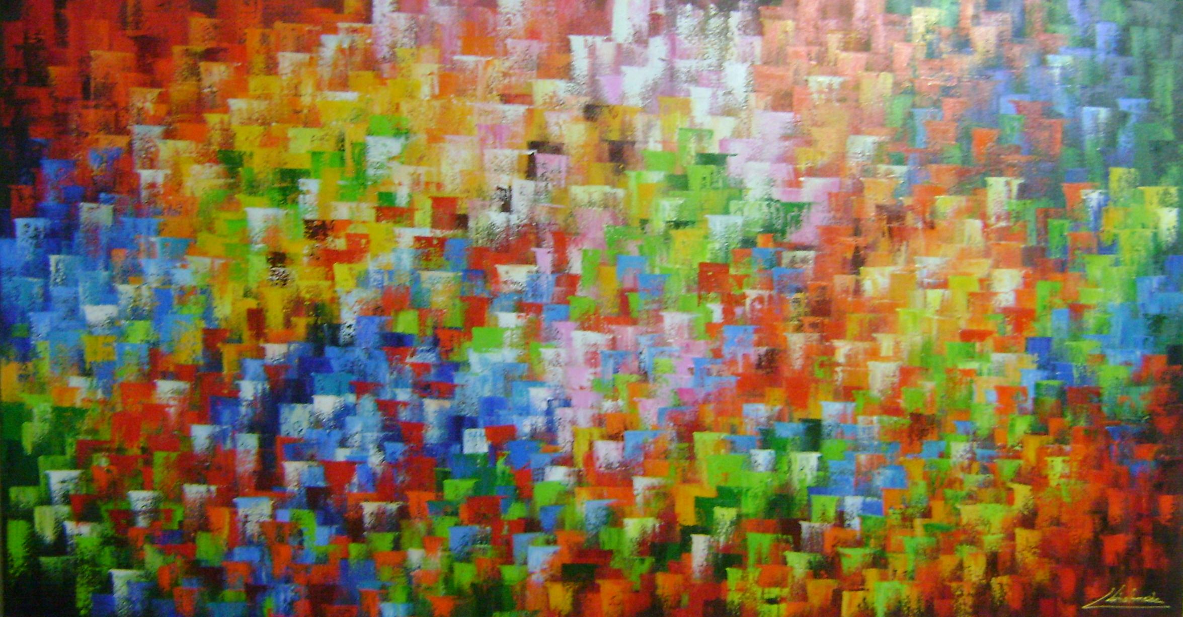 Comprar Pintura Tela Quadro Pintura Tela Abstrato Flores Meuri
