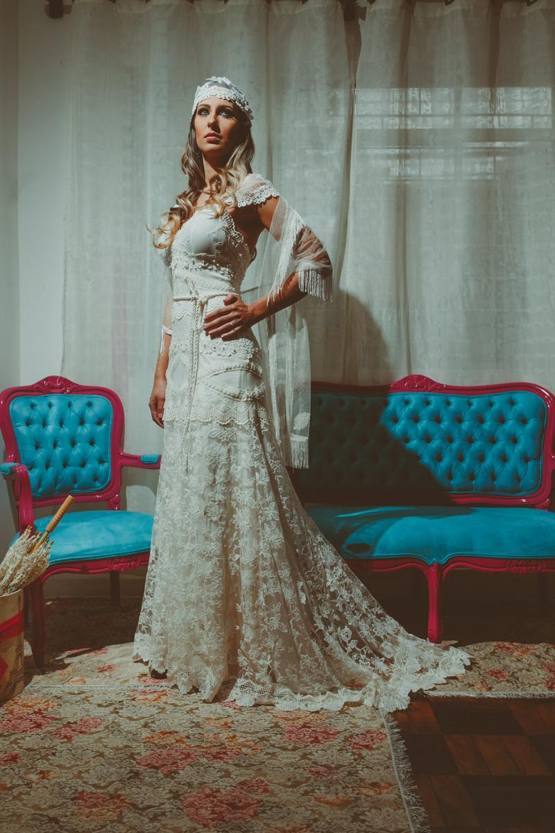 vestido de noiva katherine boho chic  Atelier Luana