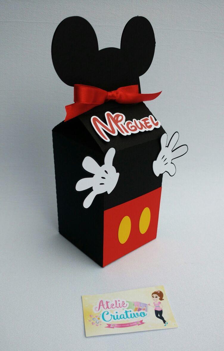 Caixa Milk Mickey Mouse no Elo7  Atelie Criativo