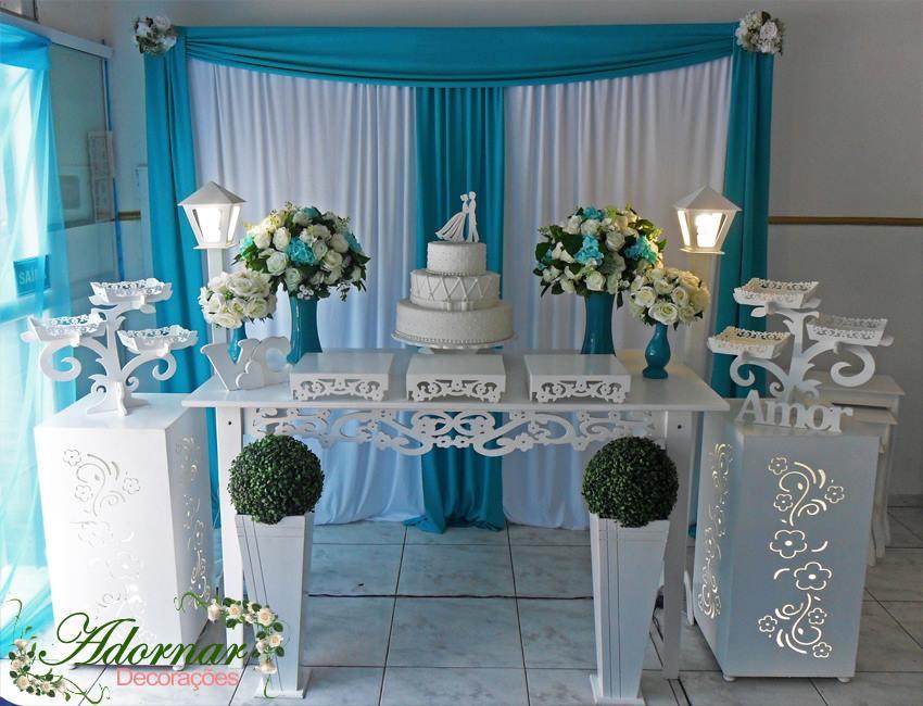 Aluguel Decorao Casamento Azul Tiffany no Elo7  Adornar