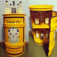 Tonel c/ porta bar M no Elo7 | Drums Decor (864A12)