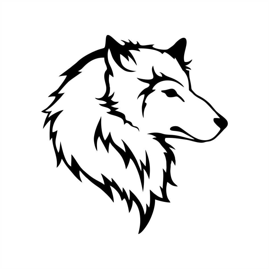 Adesivo Lobo 10x9 cm - Mod 2 no Elo7 QUEEN INDÚSTRIA DE