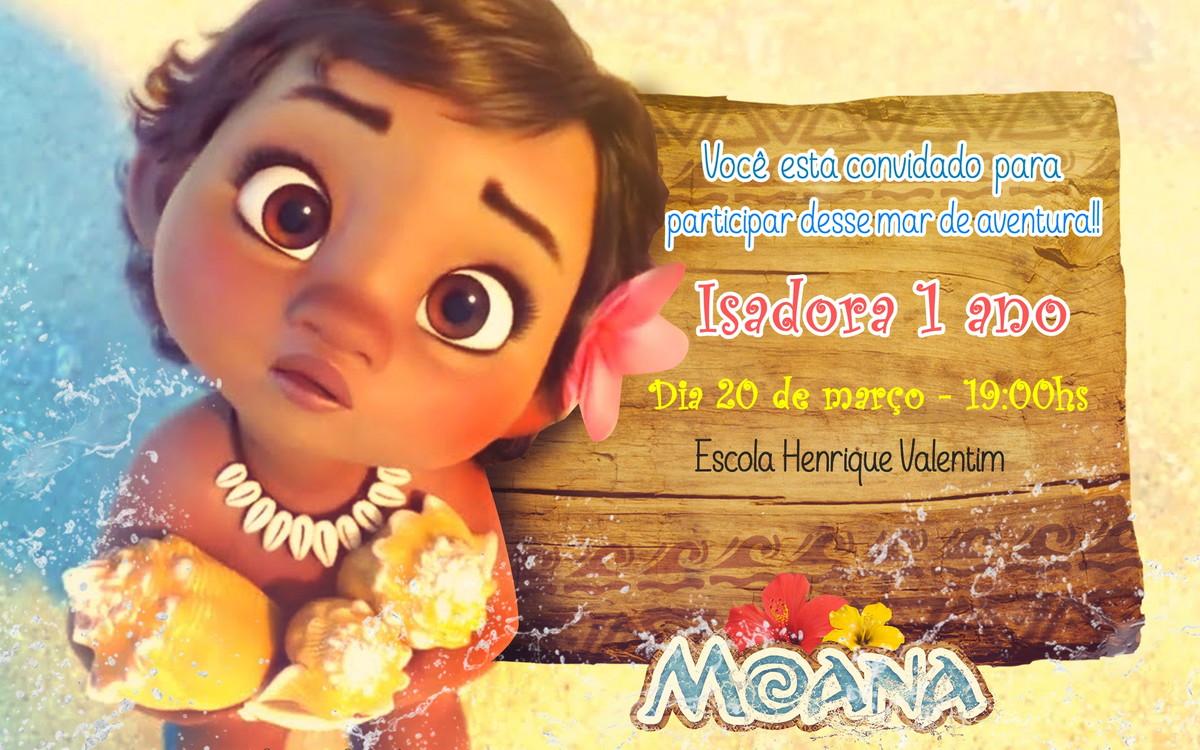 Convite Moana Baby No Elo7 Mimi Festas 8E3714