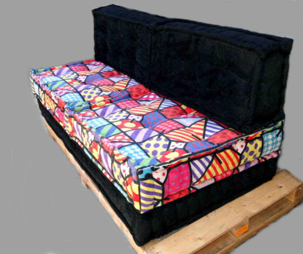 sofa cama walmart brasil white faux leather set sofá de futon estampas exclusivas no elo7