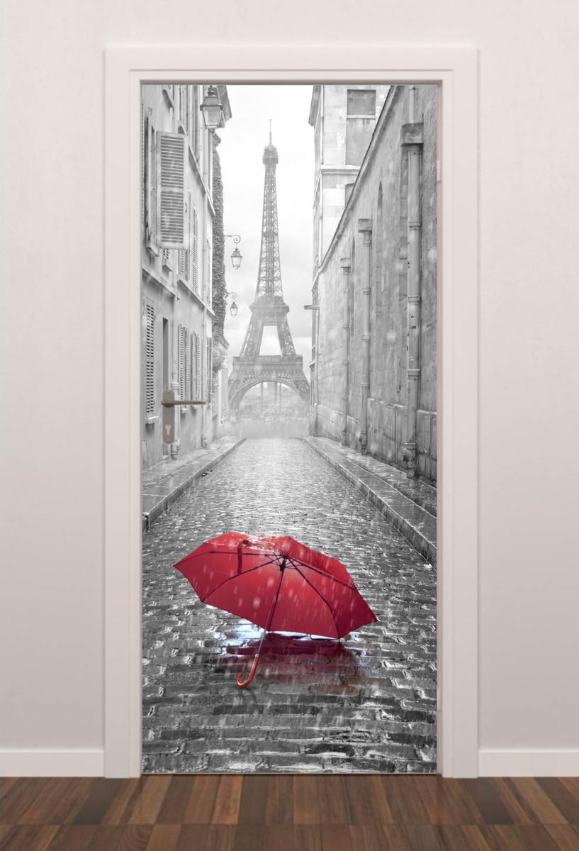 Adesivo Porta Paris Romantica Quarto Sala Banheiro no Elo7