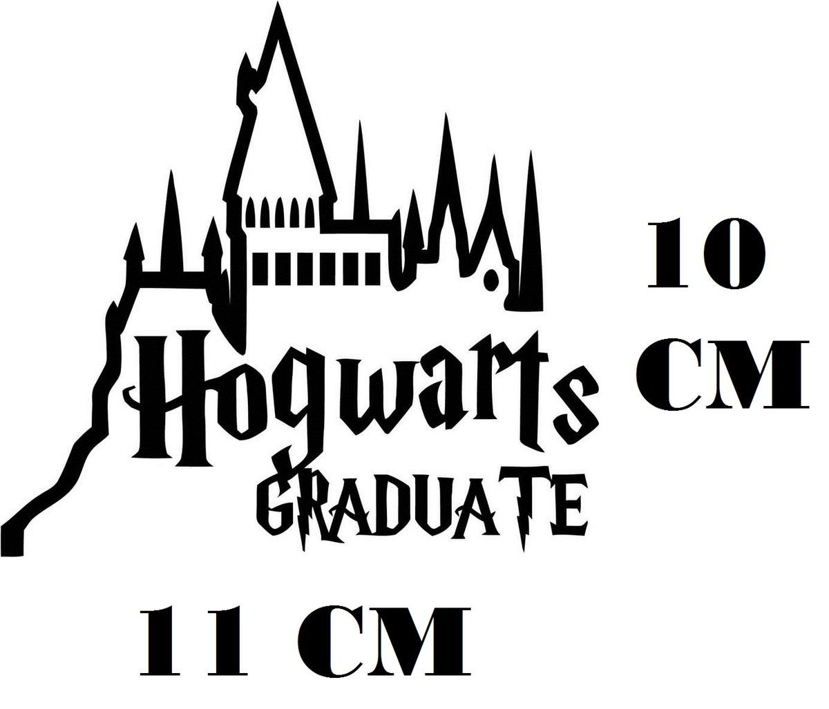 Adesivo Hogwarts Graduate Harry Potter Frete Gratis No