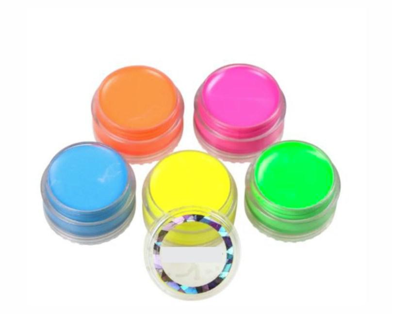 Kit 5 Tintas Faciais Maquiagem Neon Brilha na Luz Negra no Elo7 | Mari B  Festeira (EDE1ED)