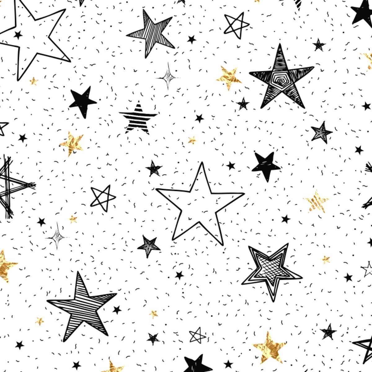 Papel de Parede Infantil Adesivo Céu Estrelas N4165 no