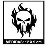 Adesivo Caveira Justiceira Personalizados Motos 2 Unidades No Elo7 Gl Adesivos 10e8add