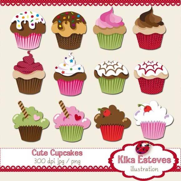 clipart cupcake delcia kika