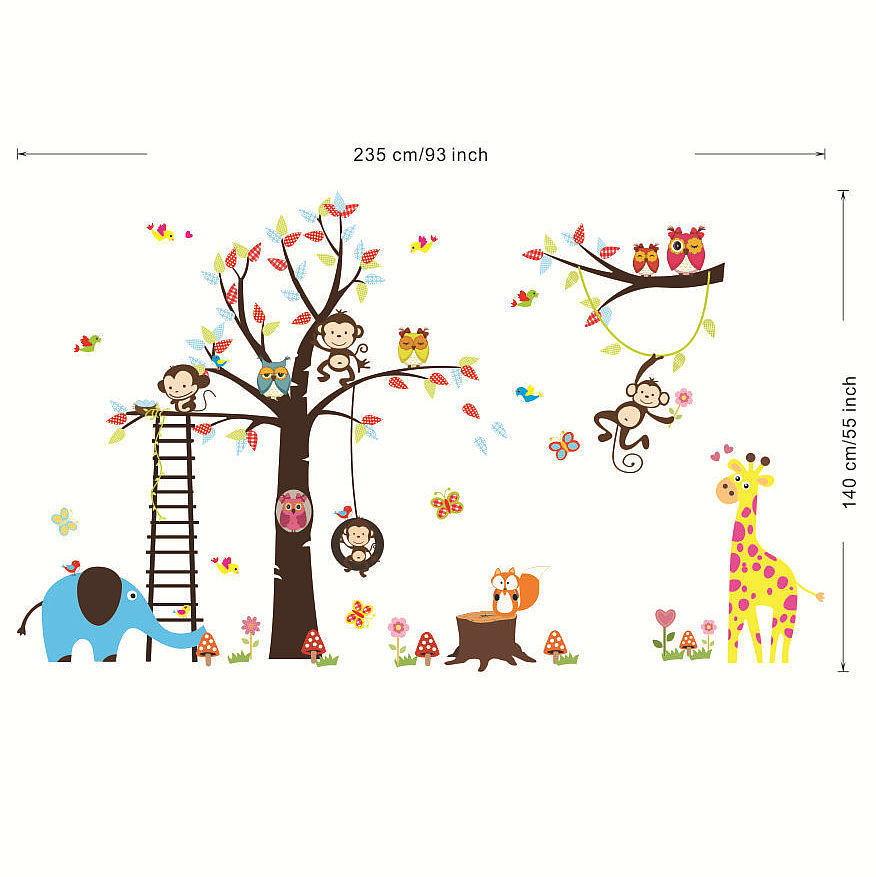 Adesivo decorativo de parede rvore zoo no Elo7  Cau Baby