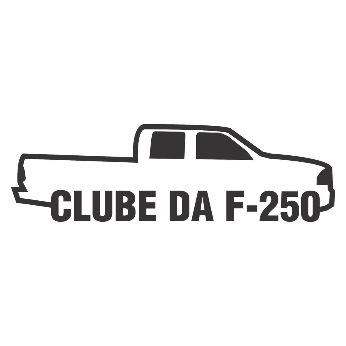 Adesivo Ford Clube Da F 250 F250 15cm