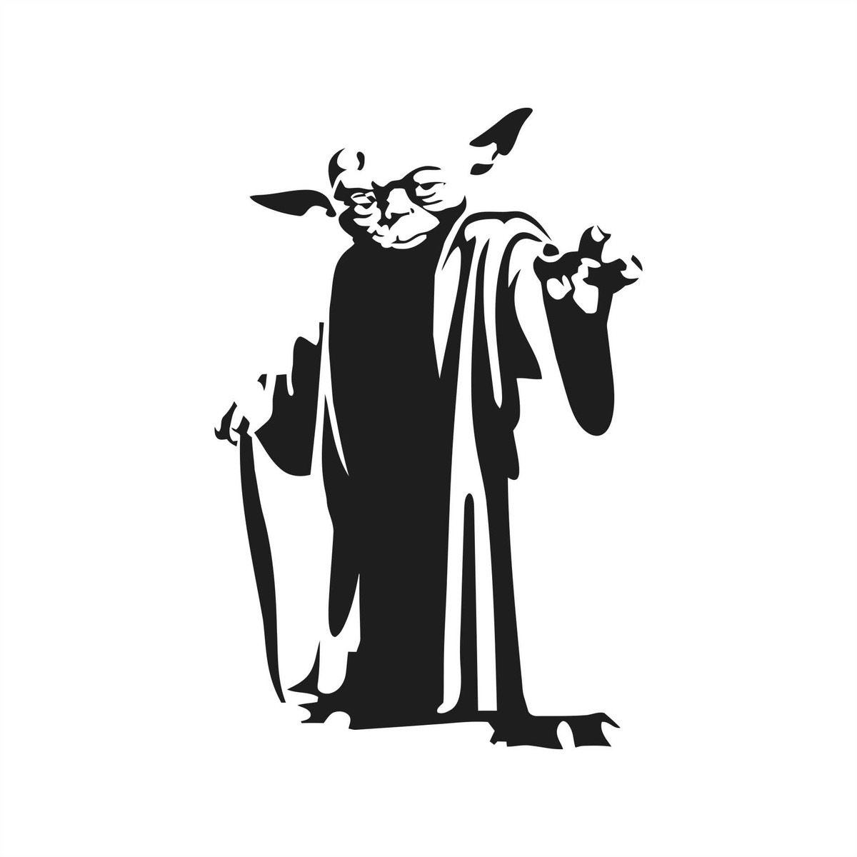 Adesivo Jedi Star Wars Yoda 12x8cm No Elo7