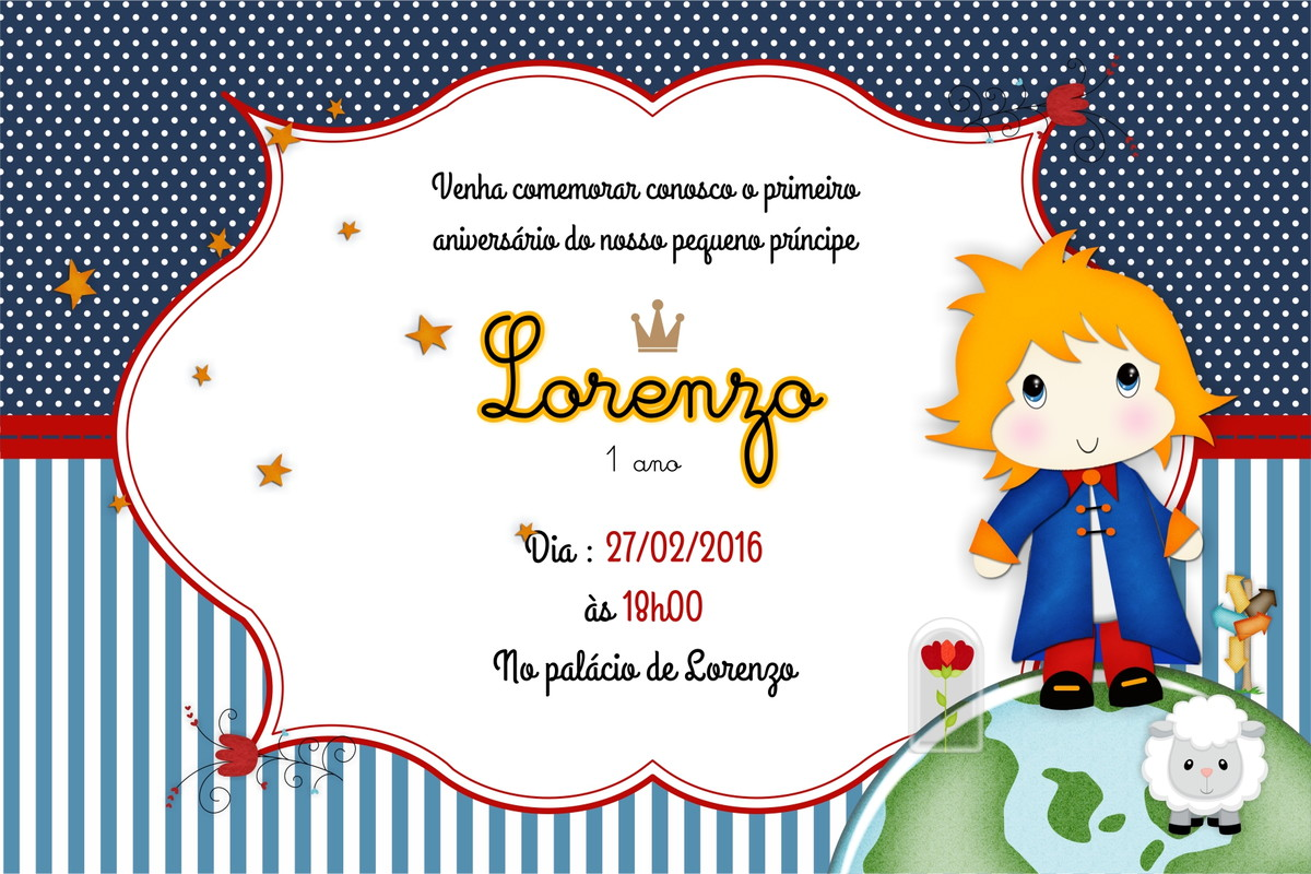 Convite De Aniversario 1 Ano Principe Convite Aniversário Príncipe