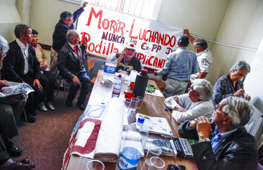 Los manifestantes ya habían iniciado un ahuelga de hambre en diciembre de 2014.