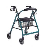 transport chair Metal Rollator rolling walker with PVC