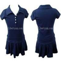 Bamboo baby clothes kid pleated skirts with button closure ...