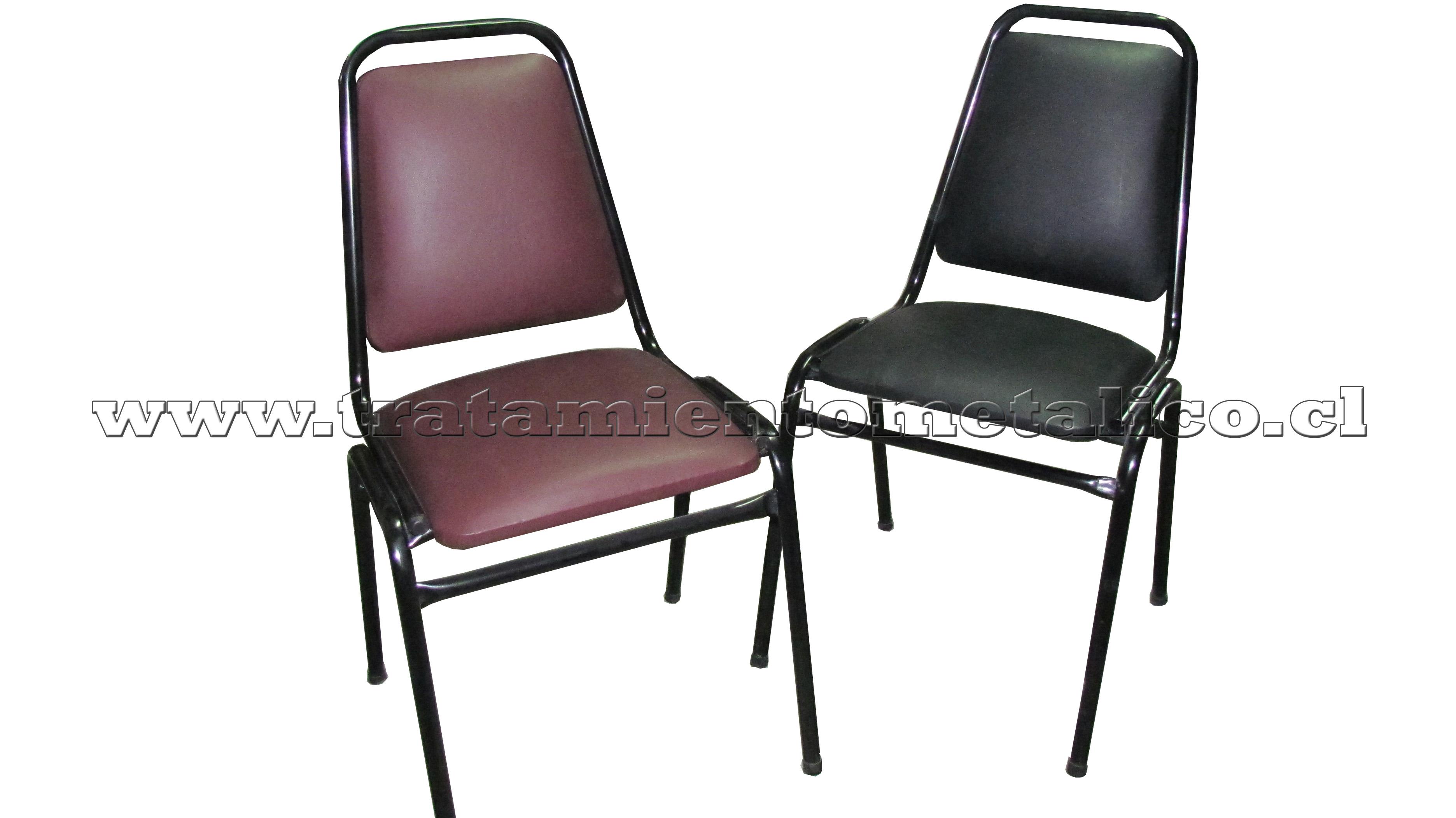 sillas apilables tapizada en tevinil o lanilla  TodoMercado Chile