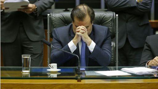 Rodrigo Maia, presidente da Câmara dos Deputados, acompanha a leitura da denúncia da PGR contra Temer. Foto: Dida Sampaio/Estadão