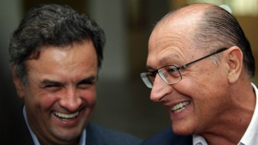 Arquivo: Alckmin recebeu Aécio no Palácio dos Bandeirantes, em 2014, antes da eleição presidencial - Foto: Márcio Fernandes/Estadão