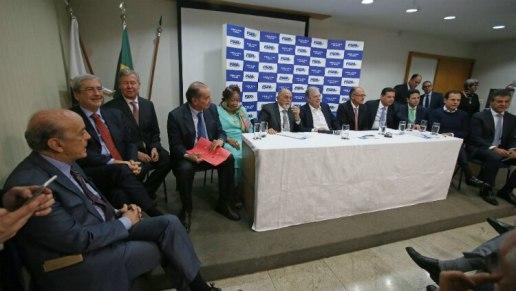 Encontro conta com a presença do governador e do prefeito de São Paulo, Geraldo Alckmin e João Doria - André Dusek/Estadão