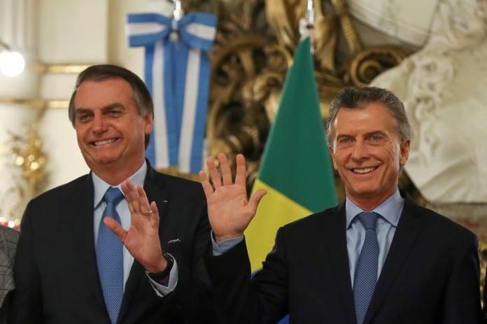 Bolsonaro e Macri na Argentina