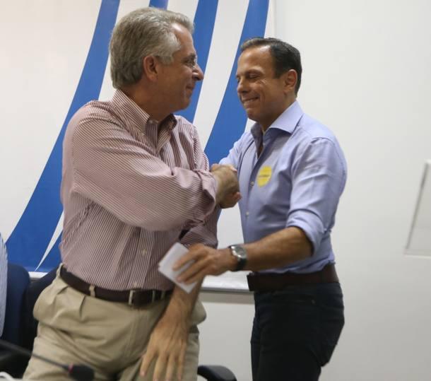 Andrea Matarazzo e João Doria Jr