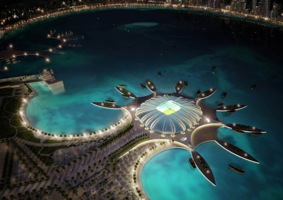 No Catar: projeto de estádio com marina para iates mostra o que hoje se entende por democratizar o futebol