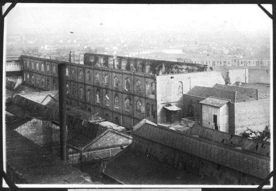 Destruição do Cotonifício Crespi, na Mooca