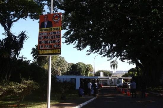 Cunha foi notificado da decisão do STF na residência oficial na presidência da Câmara, em Brasília.