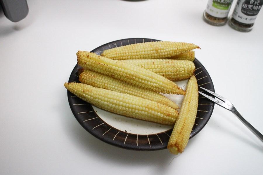 簡易氣炸鍋料理 全聯玉米筍氣炸鍋溫度時間,簡單氣炸就很美味,加點?油香氣瞬間爆表的簡單好滋味 氣炸鍋|全聯玉米筍